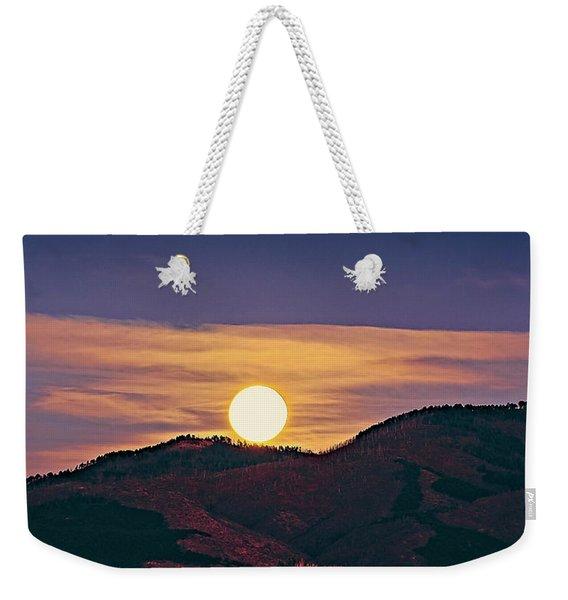 Moonrise In Northern New Mexico  Weekender Tote Bag
