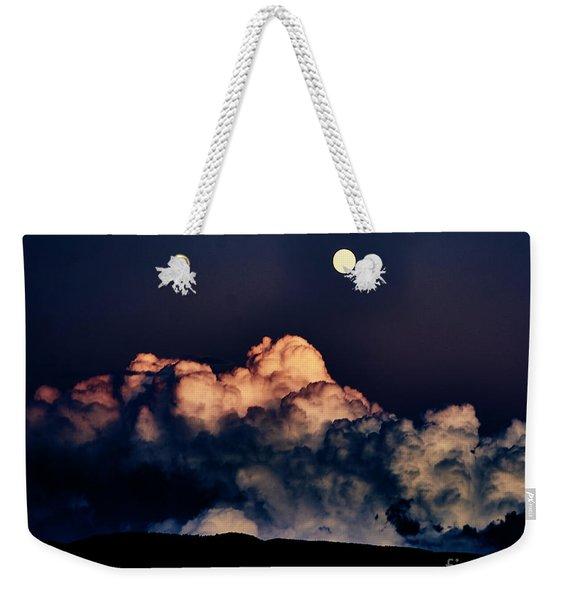 Moonrise In Taos Weekender Tote Bag