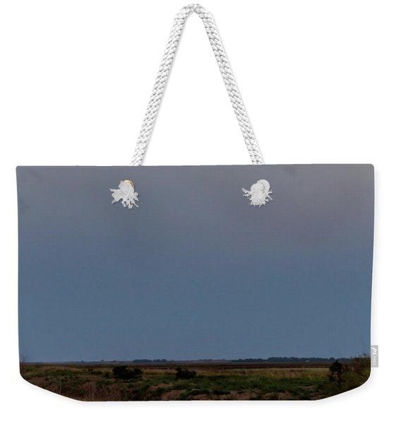 Moonrise Over Cheyenne Bottoms -01 Weekender Tote Bag