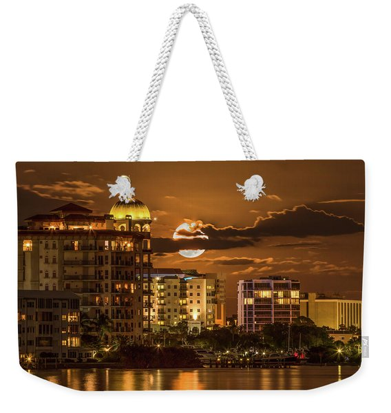 Moonrise Over Sarasota Weekender Tote Bag