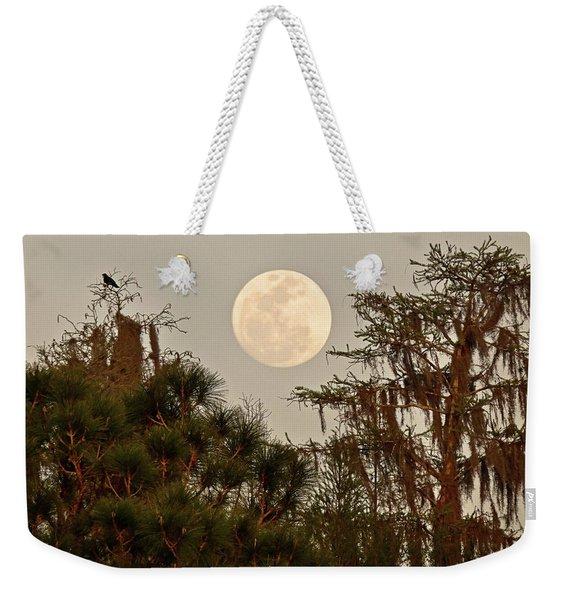 Moonrise Over Southern Pines Weekender Tote Bag