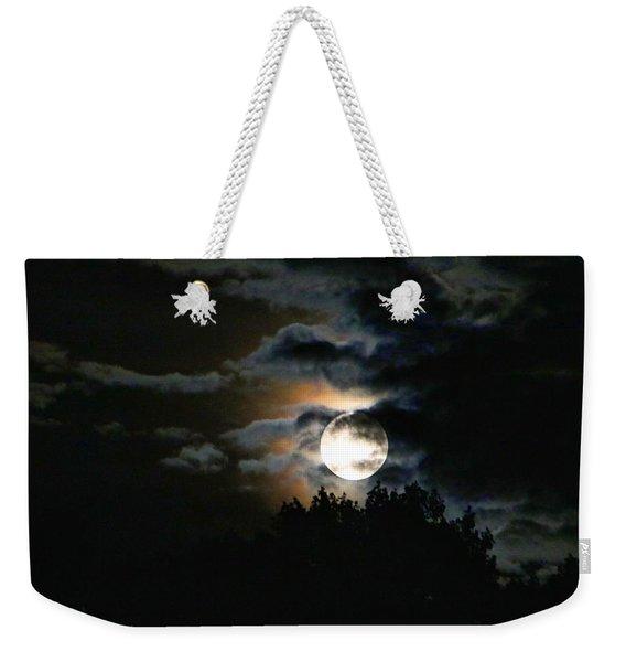 Moonset In The Clouds 2 Weekender Tote Bag