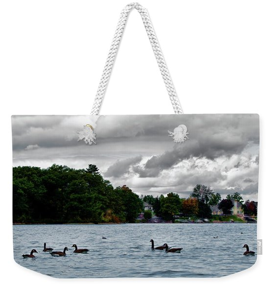 Moose Beach Point Weekender Tote Bag