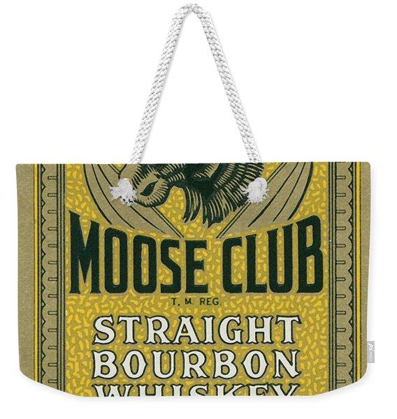 Moose Club Bourbon Label Weekender Tote Bag