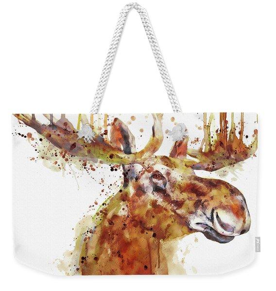 Moose Head Weekender Tote Bag