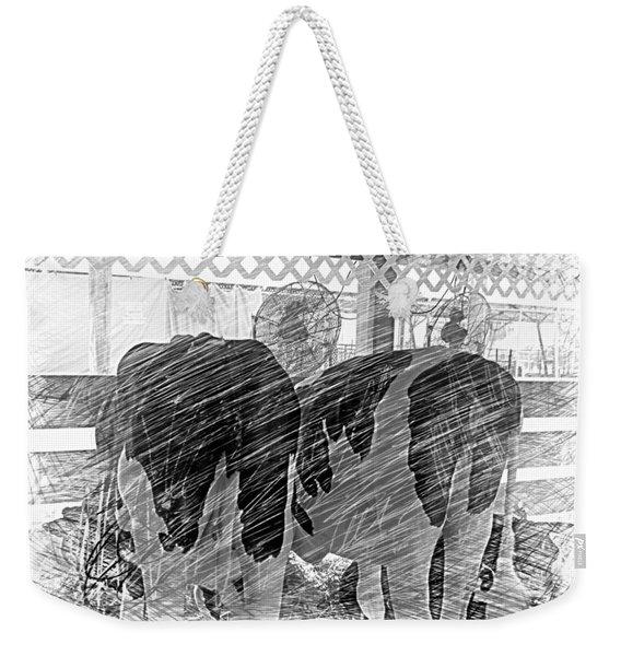 Moo...ving At The County Fair Weekender Tote Bag