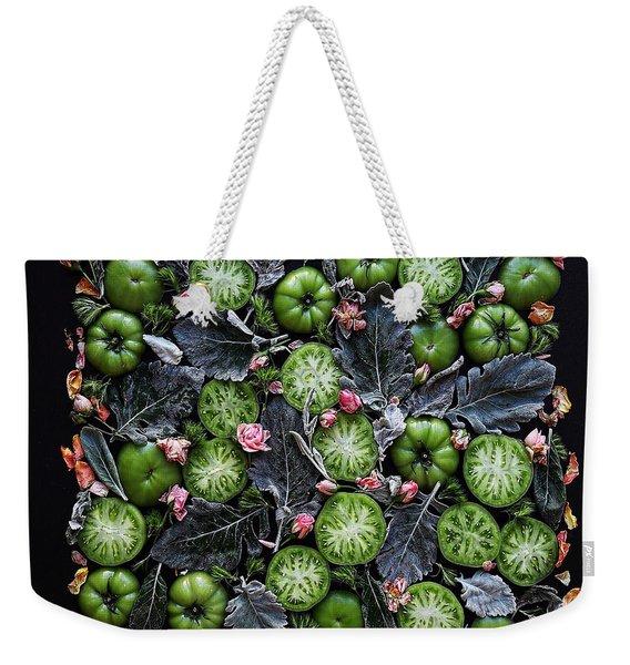 More Green Tomato Art Weekender Tote Bag