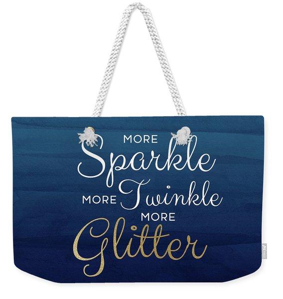 More Sparkle Blue- Art By Linda Woods Weekender Tote Bag