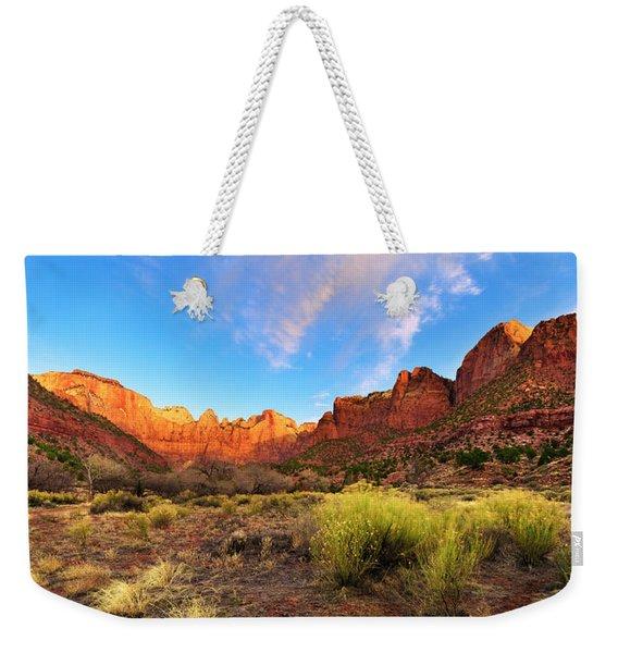 Morning Above Virgin Weekender Tote Bag