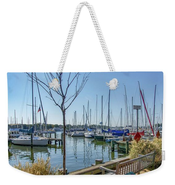 Morning At The Marina Weekender Tote Bag