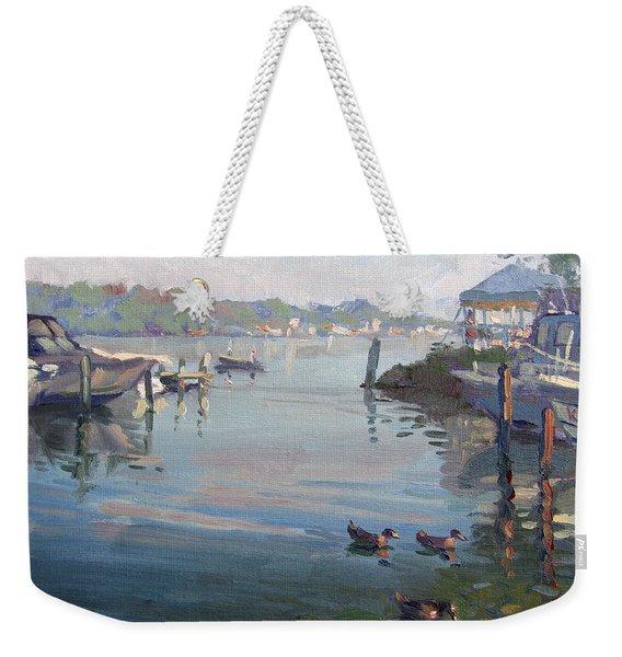 Morning At The Shores Weekender Tote Bag