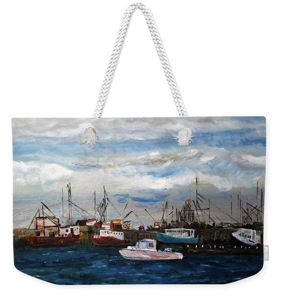 Morning At The Wharf Weekender Tote Bag