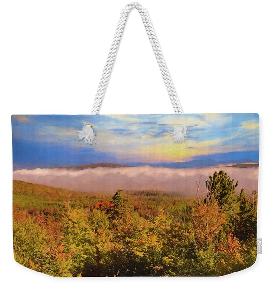 Morning Autumn Landscape Northern New Hampshire Weekender Tote Bag
