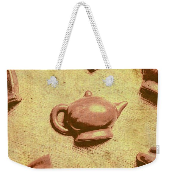 Morning Breakfast Chocolate Tea Set  Weekender Tote Bag