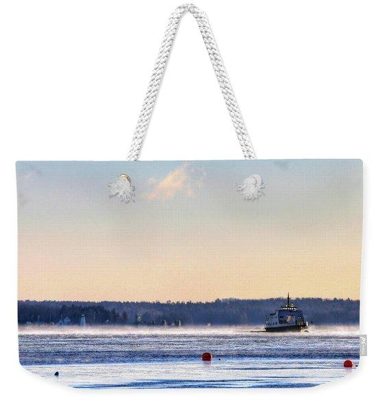 Morning Ferry Weekender Tote Bag