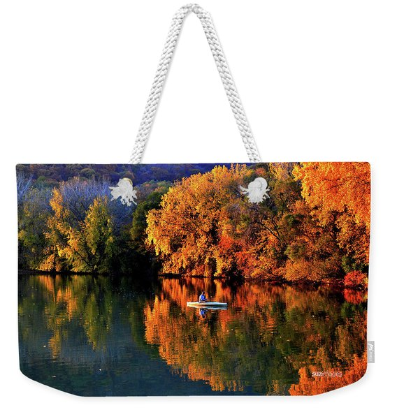 Morning Fishing On Lake Winona Weekender Tote Bag