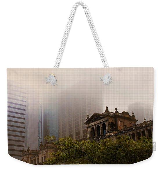 Morning Fog Over The Treasury Weekender Tote Bag