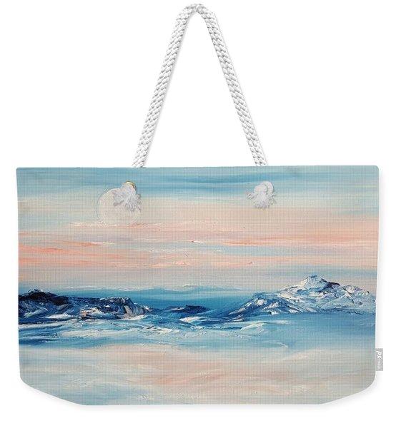 Morning Full Moon Weekender Tote Bag