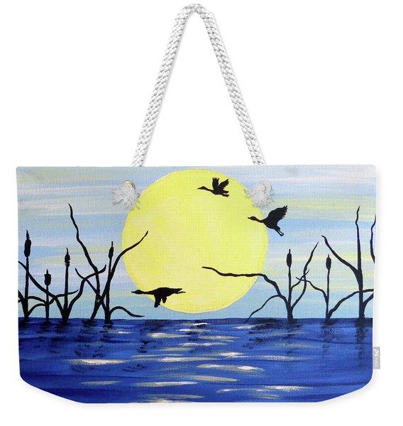 Morning Geese Weekender Tote Bag