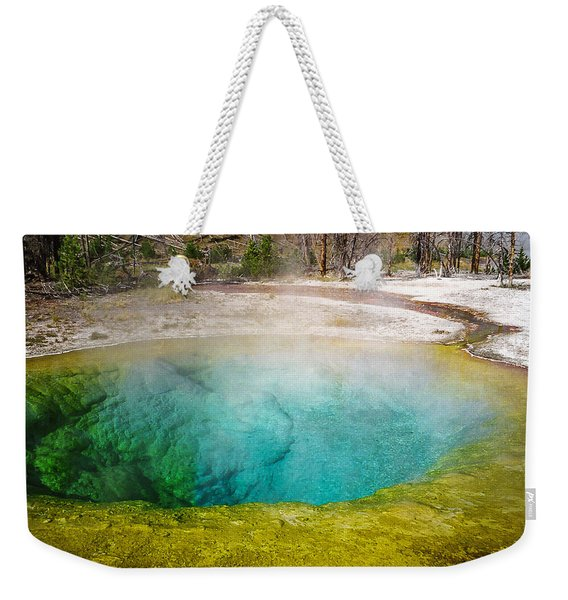 Morning Glory Pool Yellowstone National Park Weekender Tote Bag