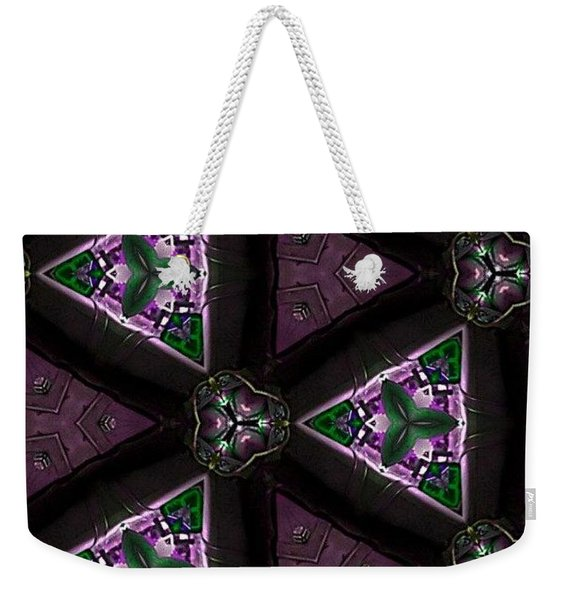 Morning Glory Through A Kalaidascope  Weekender Tote Bag