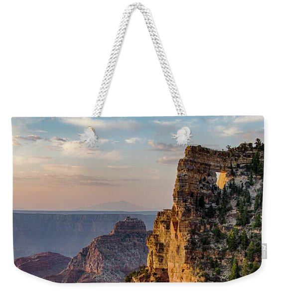 Morning Glow On Angels Window Weekender Tote Bag