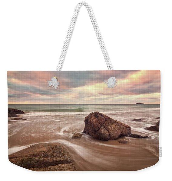 Morning Glow Singing Beach Ma Weekender Tote Bag