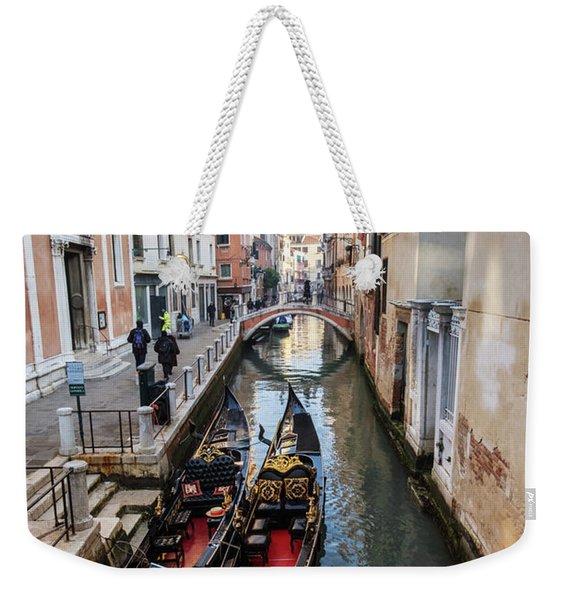 Morning In Venice In Winter Weekender Tote Bag