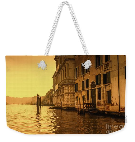 Morning In Venice Sepia Weekender Tote Bag