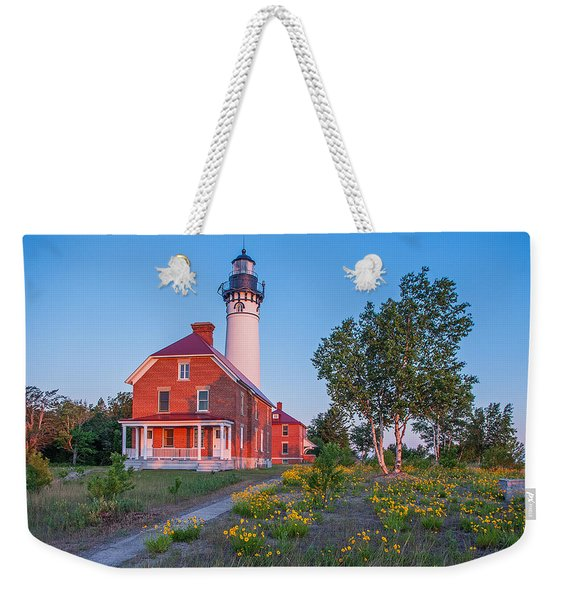 Morning Light At Au Sable Point Weekender Tote Bag