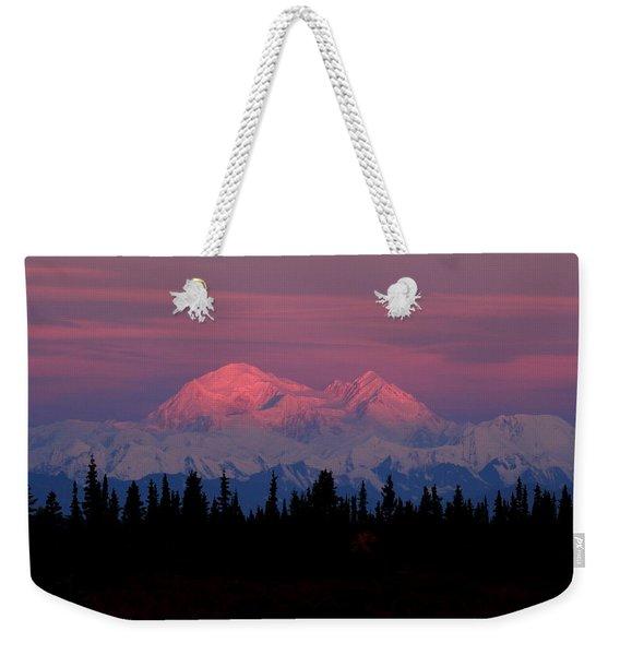 Morning Light On Denali Weekender Tote Bag