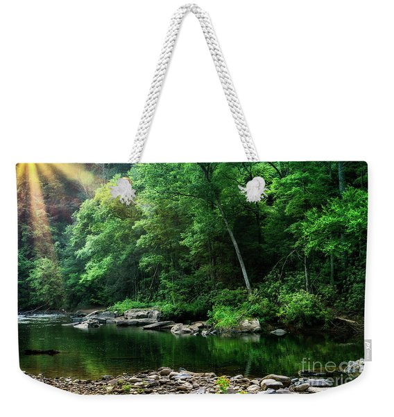 Morning Light On Williams River  Weekender Tote Bag