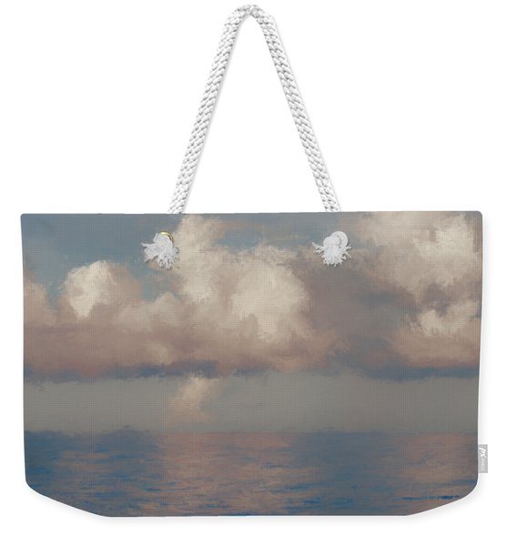Weekender Tote Bag featuring the painting Morning Lights by Rosario Piazza