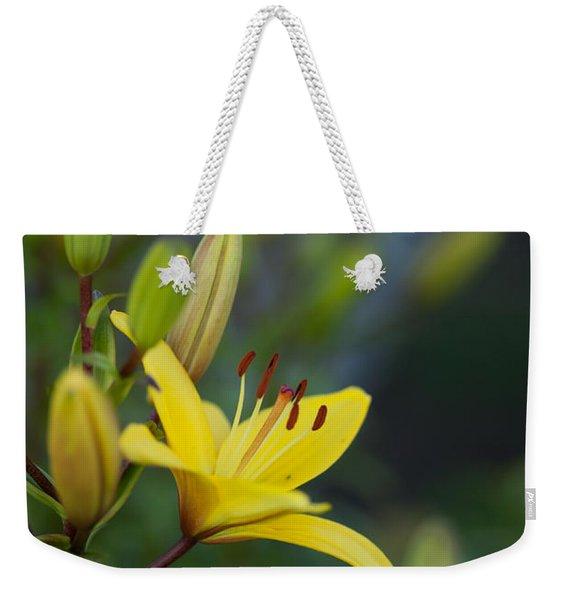 Morning Lily Weekender Tote Bag