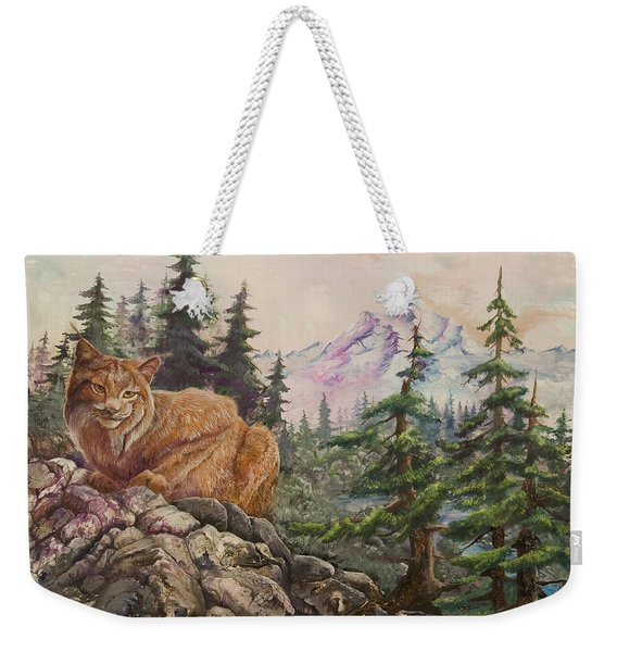 Morning Lynx Weekender Tote Bag