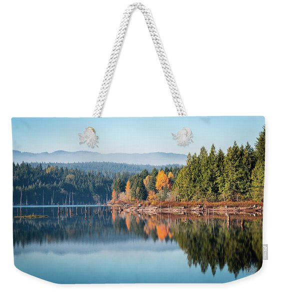 Morning Mist On Distant Mountains Weekender Tote Bag