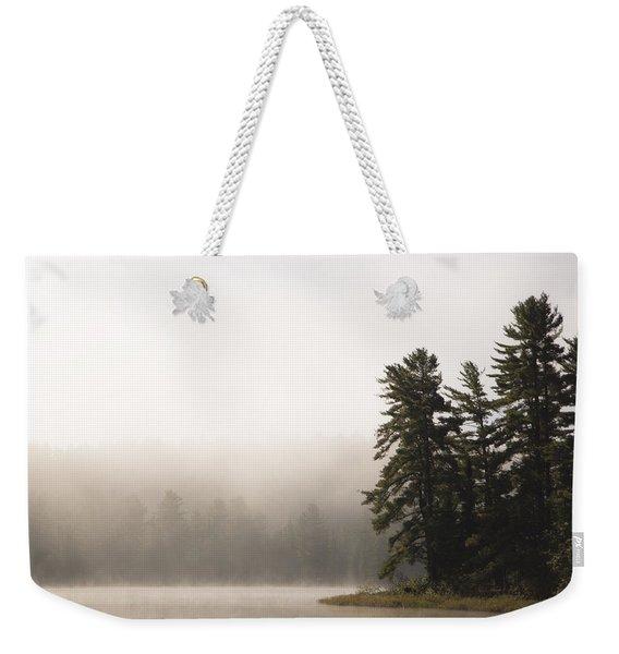 Morning Mist On Mew Lake Weekender Tote Bag