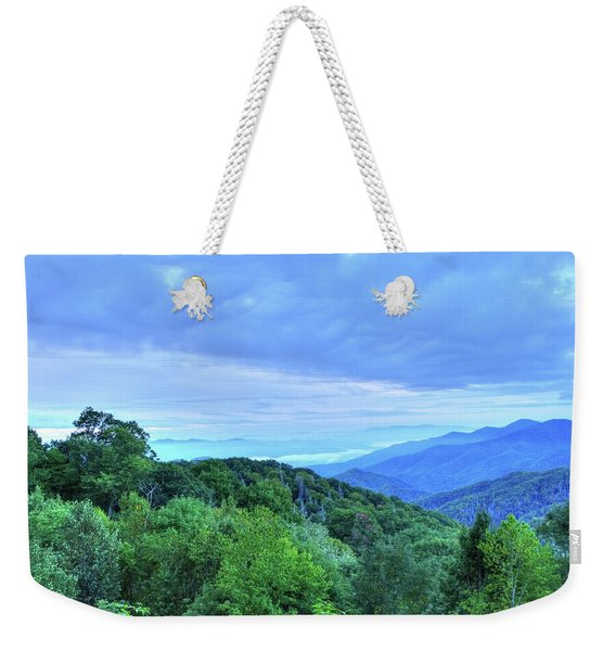 Morning Mountain Weekender Tote Bag