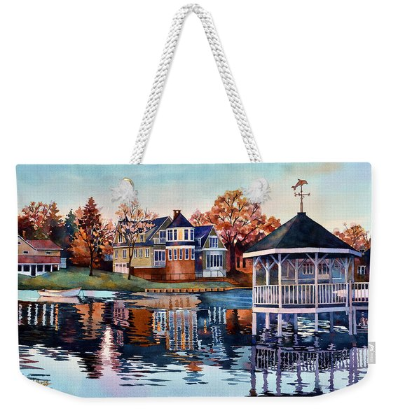 Morning On Silver Lake Weekender Tote Bag