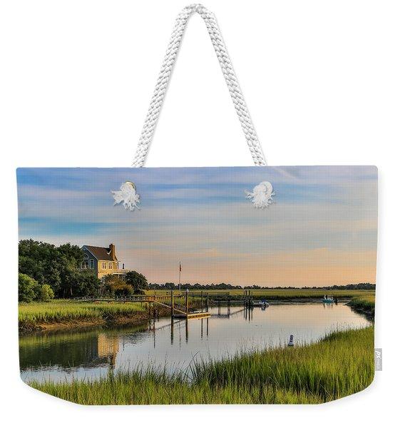 Morning On The Creek - Wild Dunes Weekender Tote Bag