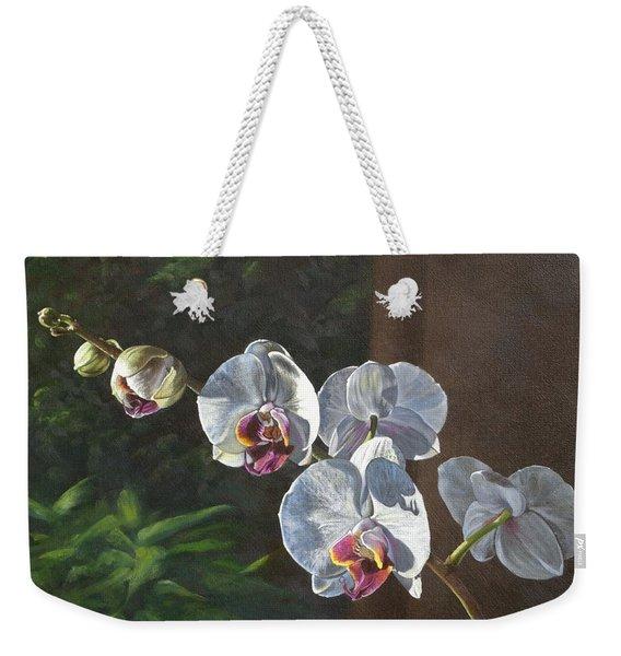 Morning Phaleanopsis Weekender Tote Bag