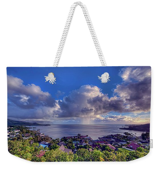Morning Rain In Kaneohe Bay Weekender Tote Bag