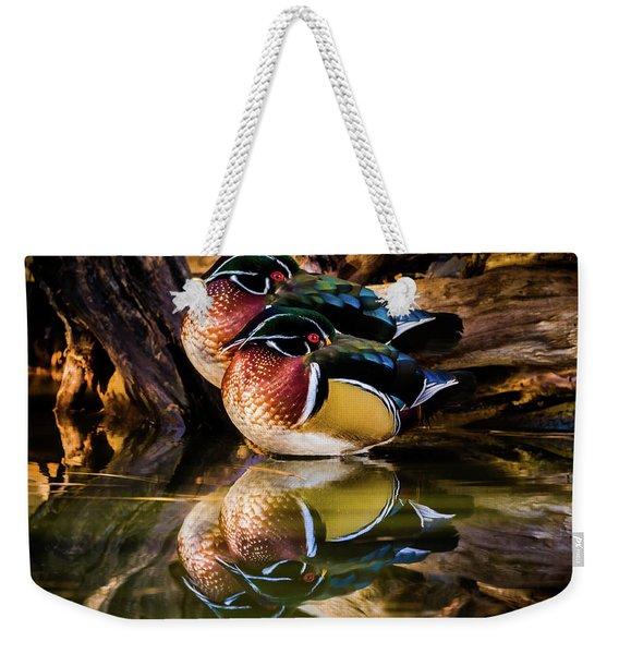 Morning Reflections - Wood Ducks Weekender Tote Bag