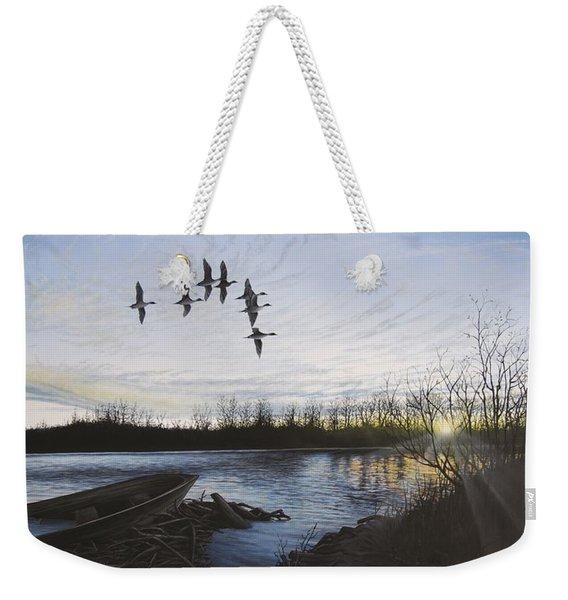 Morning Retreat - Pintails Weekender Tote Bag