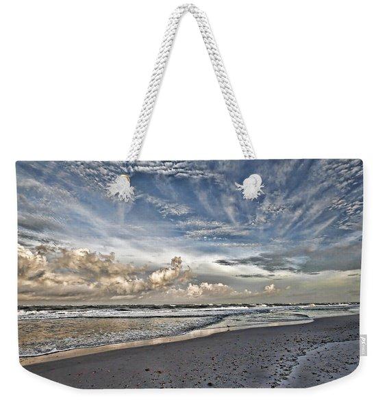 Morning Sky At The Beach Weekender Tote Bag