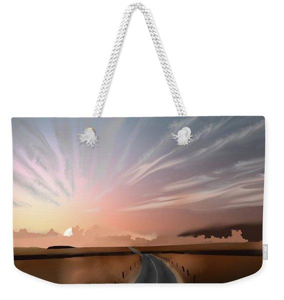 Morning Sky Weekender Tote Bag