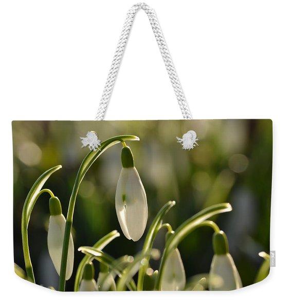 Morning Snowdrops Weekender Tote Bag