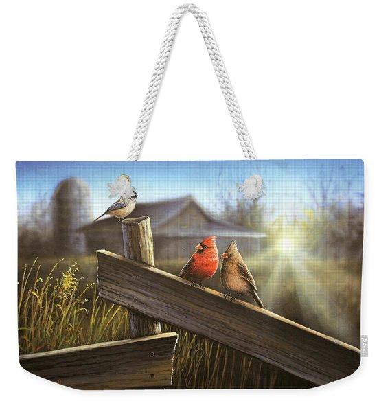 Morning Song Weekender Tote Bag