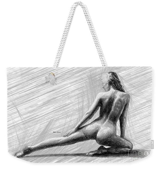 Morning Stretch Weekender Tote Bag