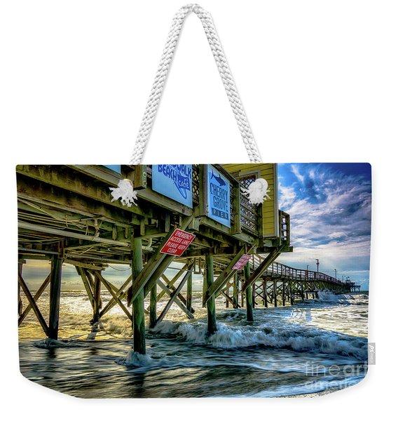 Morning Sun Under The Pier Weekender Tote Bag